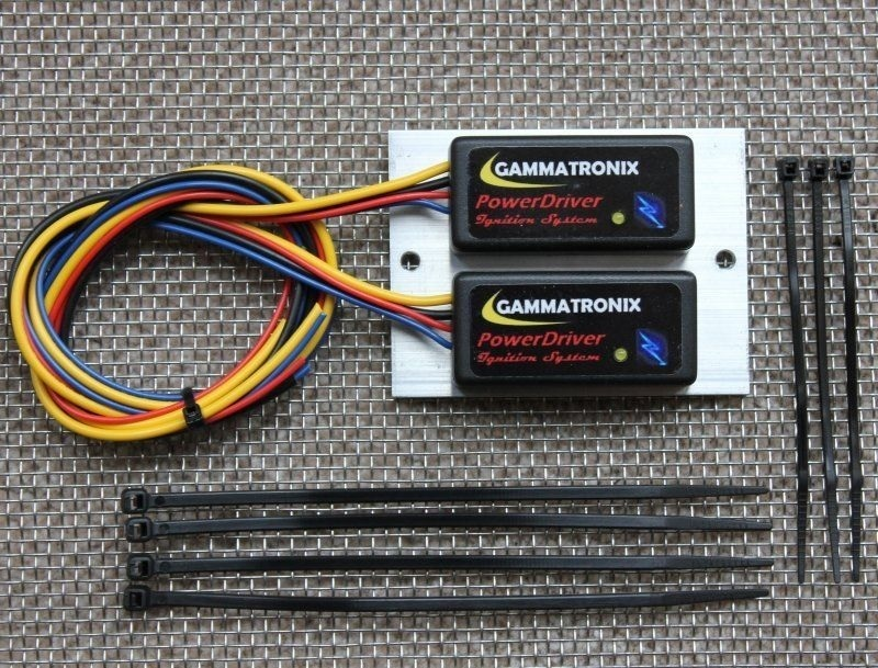Twin Cylinder Motorcycle Electronic Ignition System Kit 12v volt NEGATIVE earth - Gammatronix